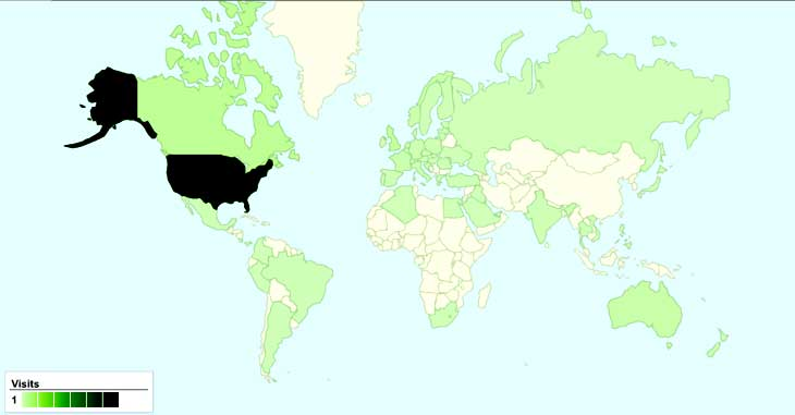 Site Visits by Country